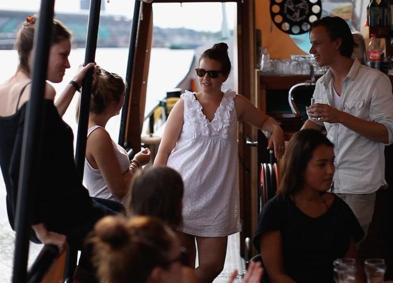groepsuitje op boot amsterdam