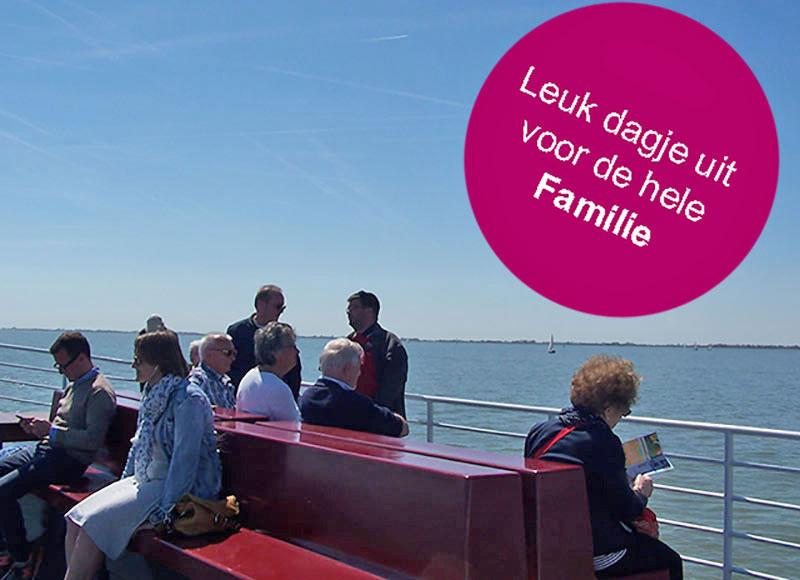 dagje uit zomervakantie met gezin boottocht ijsselmeer naar hoorn