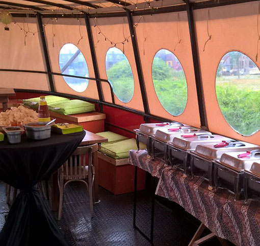 indisch buffet varen boot amsterdam zaandam
