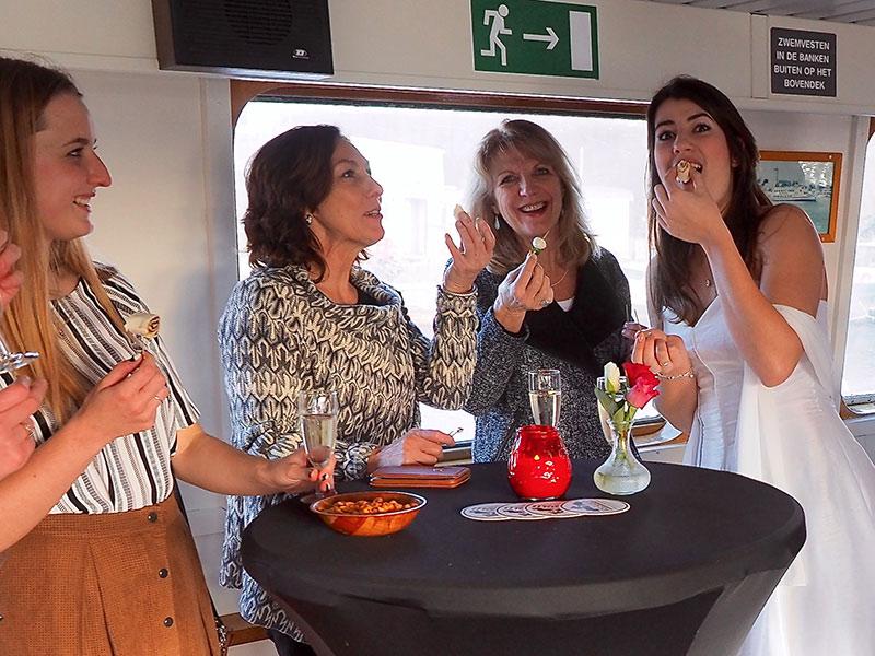 trouwfeest op boot amsterdam