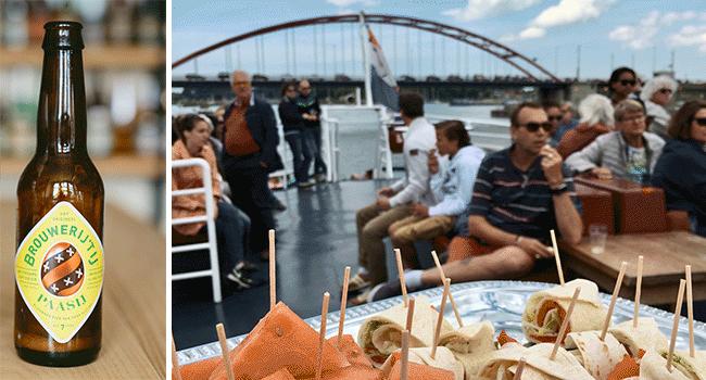 PaasIj biertje en blues muziek tijdens boottocht pasen 2018 amsterdam