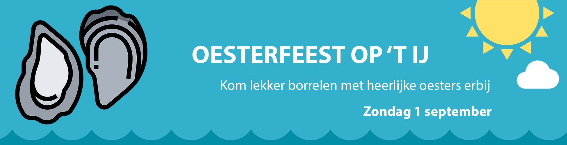 oesterparty boot amsterdam evenement
