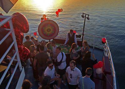Bedrijfsfeest in casino thema op boot