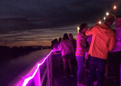 Dansfeest bovendek boot Stortemelk Amsterdam