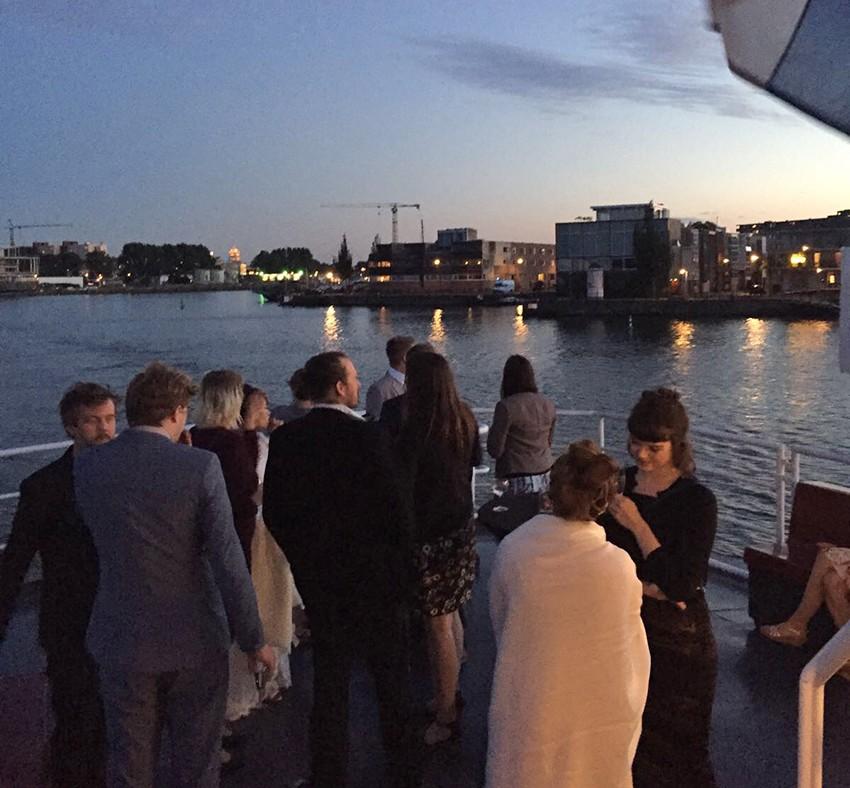 trouwfeest op boot Stortemelk amsterdam